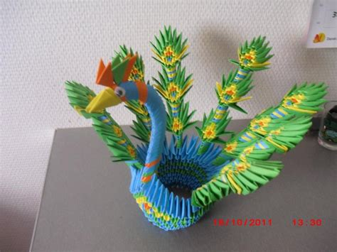 Origami Peacock - how to 3d origami how to make an origami car