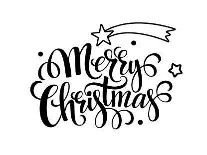 imagenes de merry christmas en blanco y negro decoraci 243 n de navidad con vinilo adhesivo quot merry christmas
