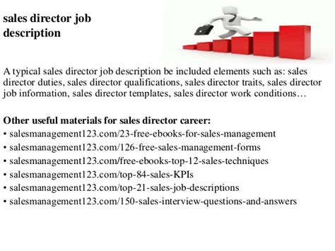 sales director description sales director description
