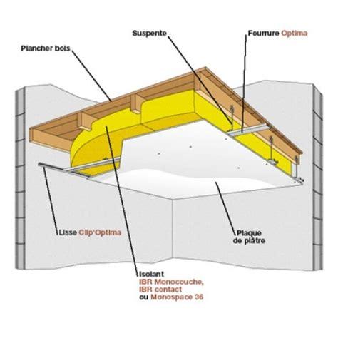 isolation d un plancher en bois par le plafond