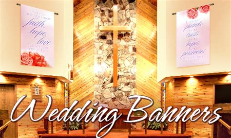 Wedding Banner For Church by Wedding Banners Church Banners