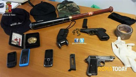 armi fatte in casa quadraro tentata rapina bar via orazio pierozzi