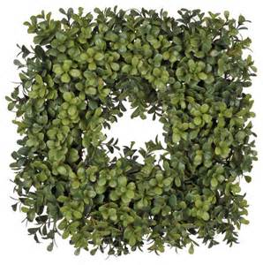artificial boxwood wreath artificial 14 quot square boxwood wreath traditional wreaths and garlands by house of silk