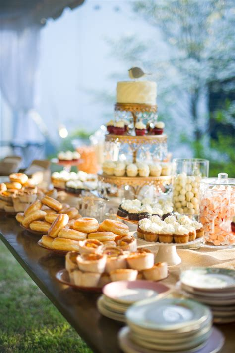 dessert buffet with donuts mini pies scobey