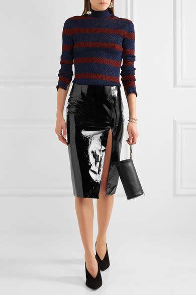 topshop unique patent leather pencil skirt net a