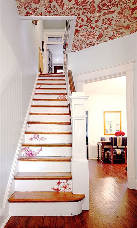 Decoupage Stairs - 11 fabulous staircases that exude shabby chic panache