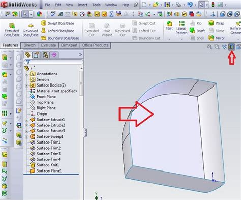 tutorial solid work pemula solidworks design simple tutorial knit surface
