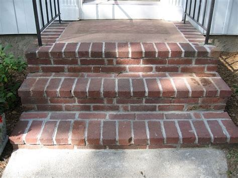 Brick Stairs Design Brick Porch Designs For Houses Repointing Brick On Front Steps Building Construction