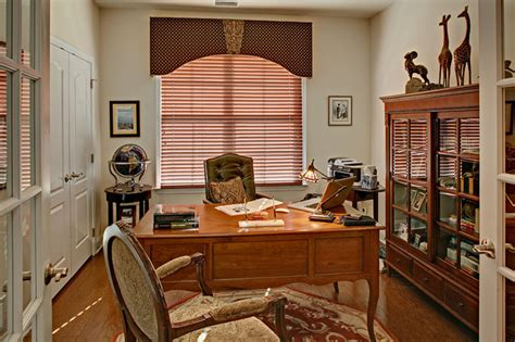 home office window treatments traditional home office
