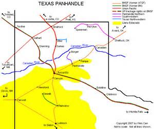 map of panhandle map panhandle