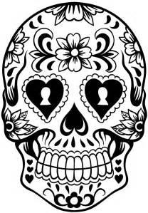 sugar skull template sugar skull wreath