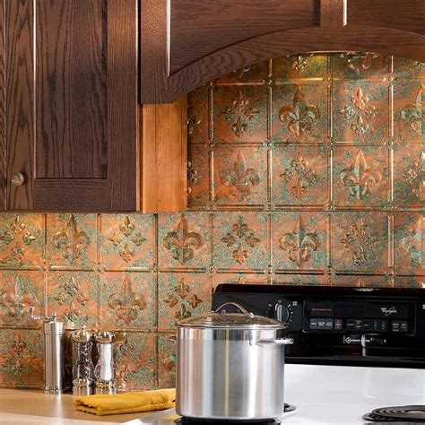 copper backsplash kitchen copper tile backsplash kitchen ideas great home decor