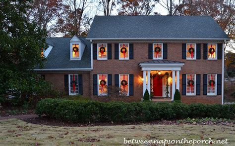 how to hang lights outside windows how to hang wreaths on outside exterior windows