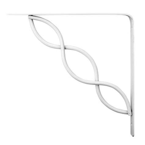 knape vogt white scroll 8 in steel decorative shelf