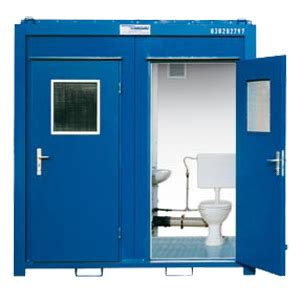 container bagno construction site portable toilets wc cabin by containex