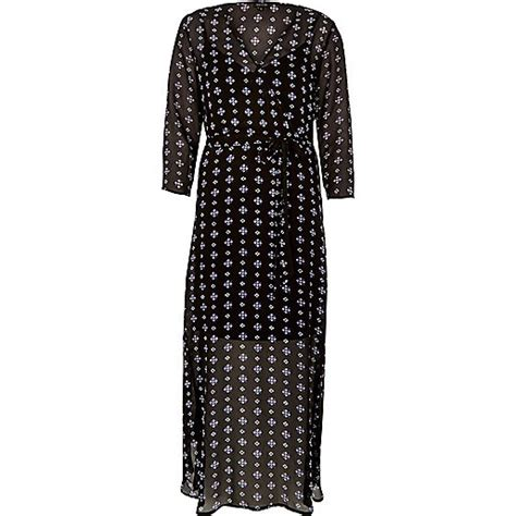 Flowing Maxi black print flowing maxi dress maxi dresses dresses