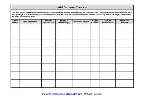 100 wbs template excel free critical path method