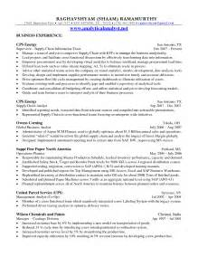 Supply Chain Resume Objective Supply Chain Resume