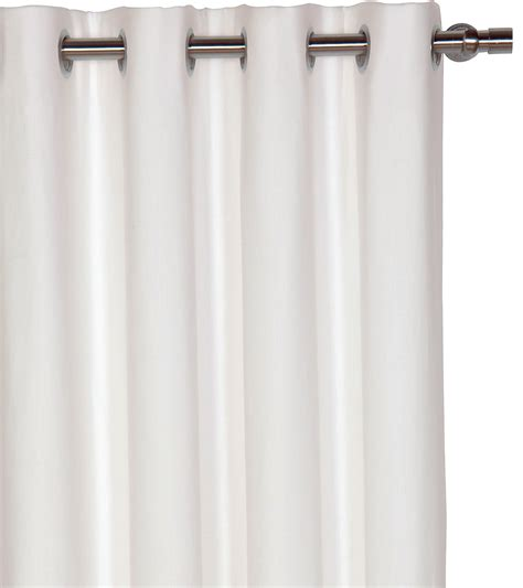 white blackout curtain white grommet blackout curtains signature white grommet