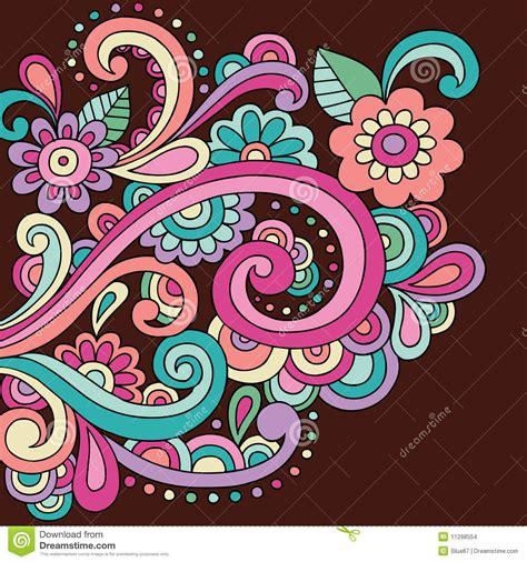 doodle doodle do o doodle do henna do doodle floresce e roda vetor imagens