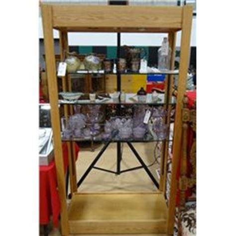 8 Foot Shelves 8 Ft X 3 Ft Wide Oak With Glass Shelves Display