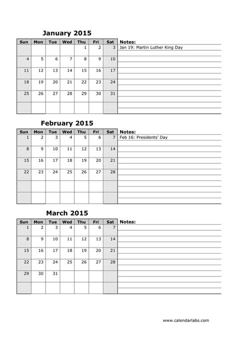 Calendar Docs 2015 2015 Monthly Calendar In Word And Pdf Formats