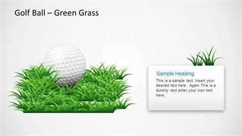 Golf Ball Shapes For Powerpoint Slidemodel Golf Design Template