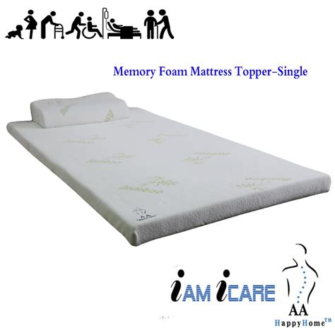 Single Foam Mattress Topper Memory Foam Mattress Topper Single