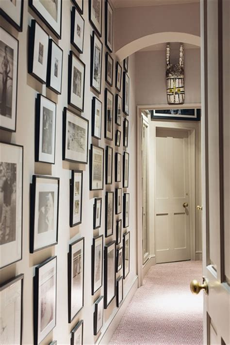 ideas on hanging pictures in hallway photo wall in small space hallway ideas decorating