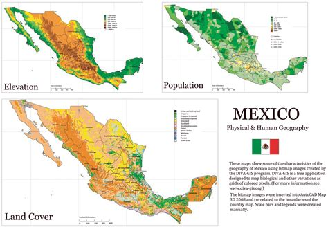 physical maps of mexico mexico physical and human geography