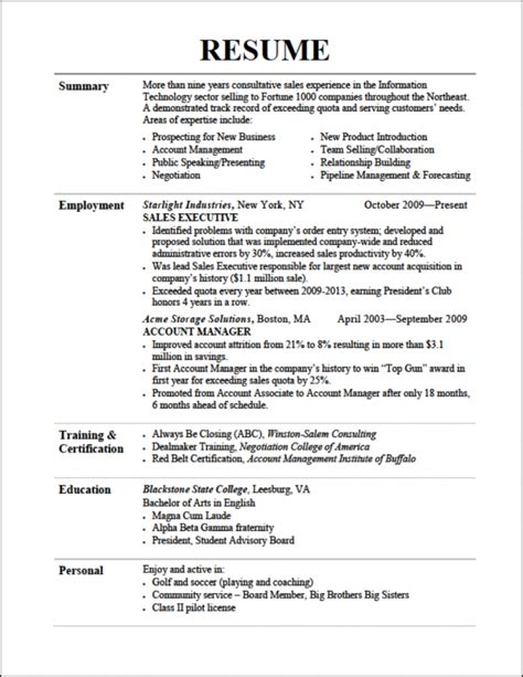 A Resume Template by Resume Tips Resume Cv Exle Template