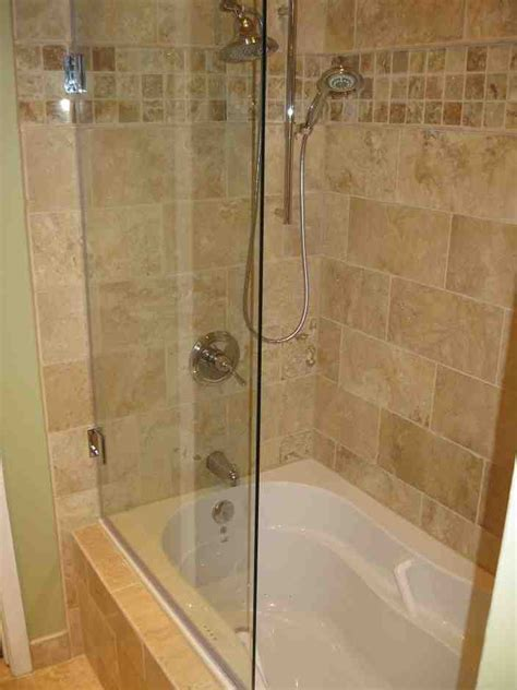Tub With Glass Shower Door Bathtub Glass Shower Doors Decor Ideasdecor Ideas