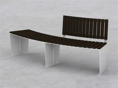 curved metal bench armonia curved bench by lab23 gibillero design collection