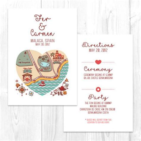 wedding direction card template free wedding map elopement printable map diy location