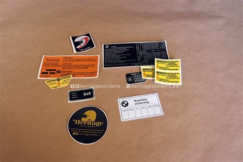 Bmw Heritage Sticker by K75 And K100 Complete Kit Heritage Stickers