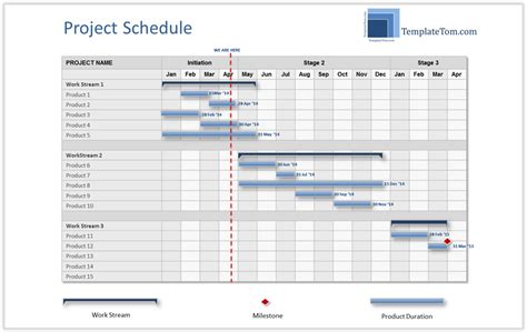 high level timeline template high level project schedule summary gantt chart