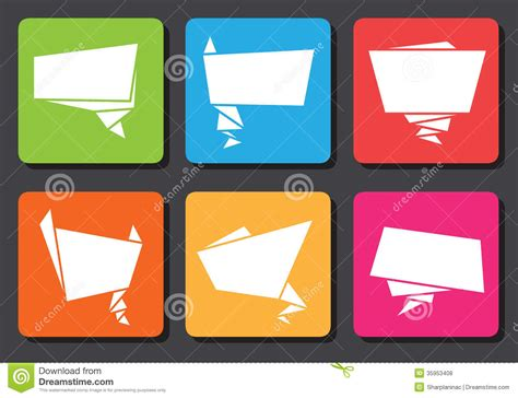 Flat Origami Designs - flat design origami speech bubbles royalty free stock