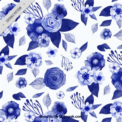 Muster Hintergrund Blumen Blau by Pattern Of Watercolor Blue Flowers In Vintage Style Vector