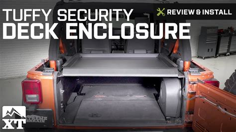 Tuffy Security Deck by Jeep Wrangler Tuffy Security Deck Enclosure 2007 2010 Jk