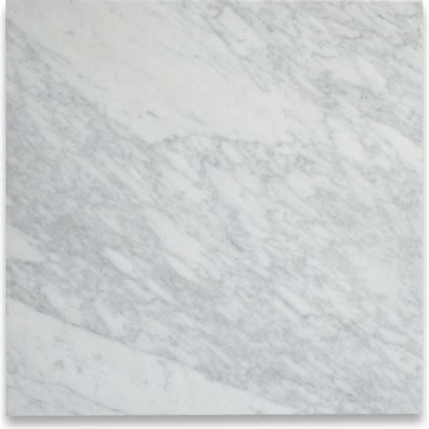 carrara white 18 x 18 tile polished marble from italy wall and floor tile by center