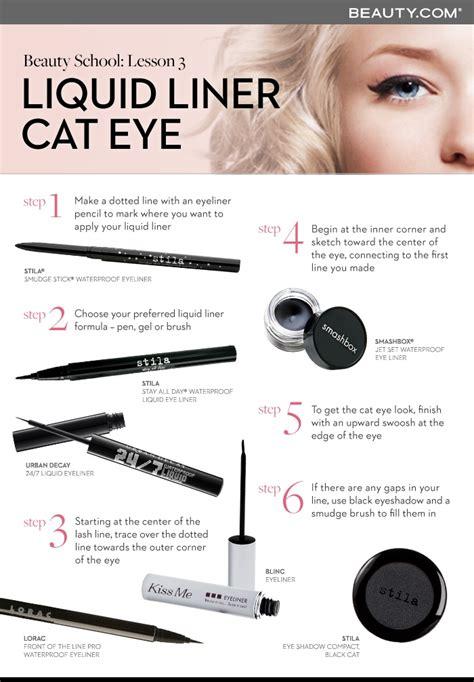 liquid eyeliner tutorial dailymotion beauty school lesson 3 liquid liner cat eye howto