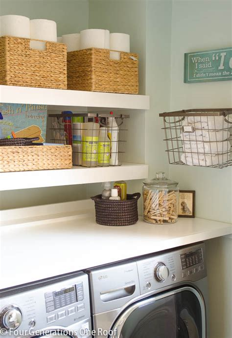 Diy Floating Shelves 20 Laundry Room Organization Ideas Diy Laundry Room Storage Ideas