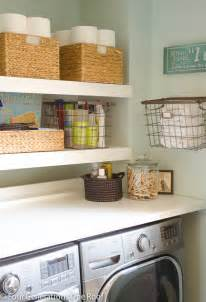 Diy Laundry Room Storage Ideas Diy Floating Shelves 20 Laundry Room Organization Ideas Via A Blissful Nest Laundry Room