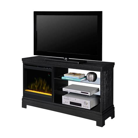 ridley electric fireplace media console in black dfp20cr