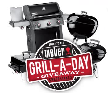 weber grill a day giveaway - Weber Grill Sweepstakes