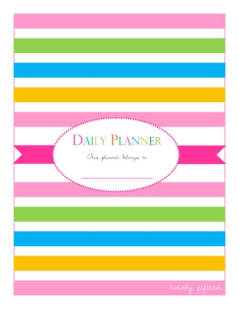 printable planner cover made in craftadise top art crafts home decor blog in