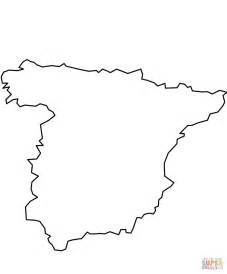 coloring page map of spain coloriage espagne a imprimer