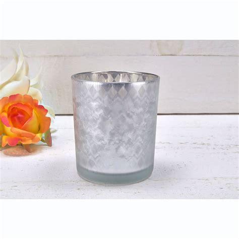 kerzenhalter verspiegelt glas windlicht braun silber brau verspiegelt vereist