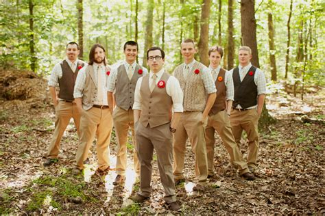 Vintage Wedding Attire For Groom by Casual Vintage Y Woods Y Groom And Groomsmen Attire