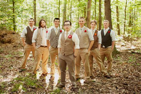 Mens Wedding Attire Vests by Casual Vintage Y Woods Y Groom And Groomsmen Attire